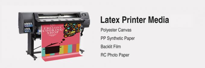 Glossy Latex Photo Paper 230 Gram , Latex Media Roll Paper Resin Coated