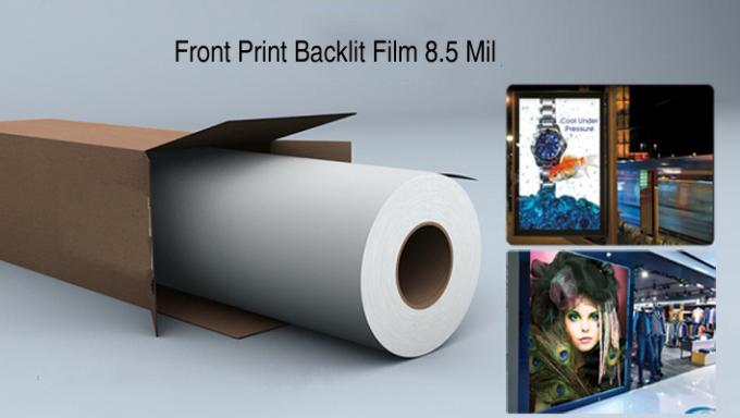 215 Micron Inkjet Media Supplies Aqueous Universal Polyester Backlit Film Front Printing