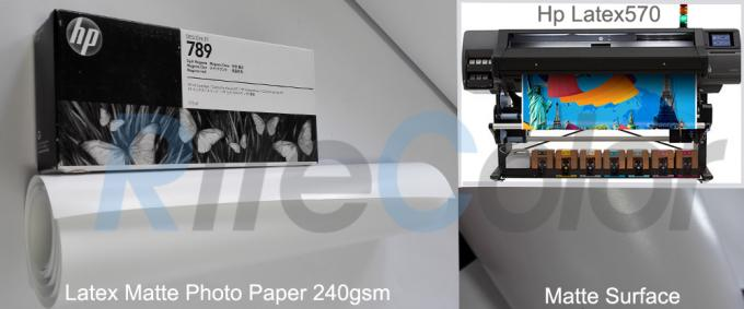Recylcable 240 Gsm Latex Inkjet Photo Paper Premium Matte Surface 30 Meters