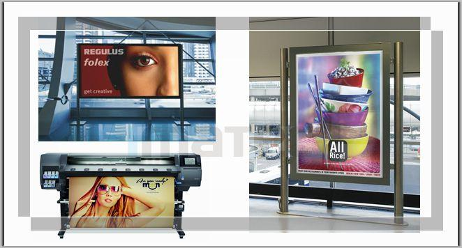 HP Latex Printers Medias Latex Backlit Film Paper Digital Printing 215 Micron Thickness