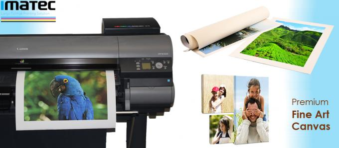 Wide Format Fine Art Photo Printing Matte Inkjet Polyester Canvas Roll For Pigment Ink