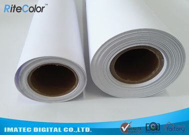 30M Polypropylene Inkjet Synthetic Paper , Matte Water Resistant Printer Paper Roll