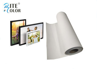 Inkjet Digital Printing Polyester Canvas Rolls , Wide Format Canvas Digital Print Fabric