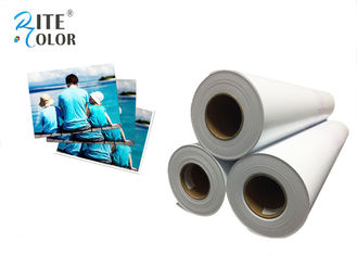 "42"" Width RC Glossy Photo Paper , White Inkjet Photographic Paper Roll"