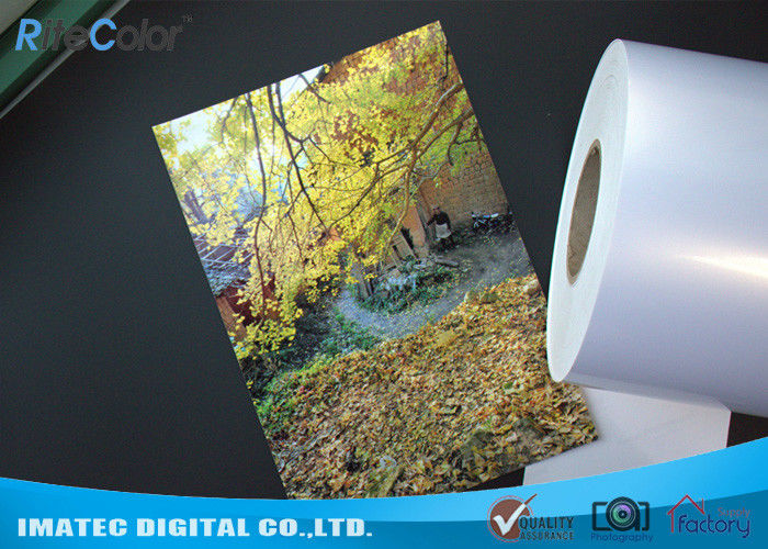 High Glossy Metallic Inkjet Media Supplies 260gsm Resin Coated Inkjet Photo Paper