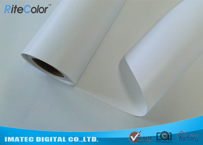Outdoor Waterproof Canvas Fabric 260gsm Solvent Polyester Canvas For Inkjet Print nhà cung cấp