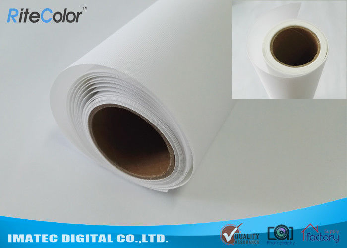 Inkjet Print Fabric Polyester Canvas Rolls With Blank White Matte Coated Surface