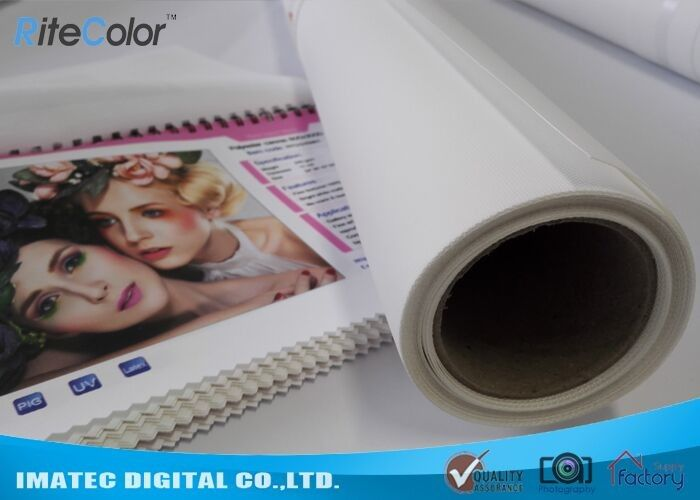 Photographic Polyester Canvas Rolls 280gsm , Digital Printing Pure Polyester Fabric nhà cung cấp