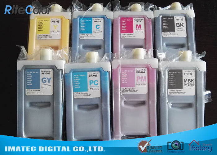 PFI 706 Large Format Ink Compatible Printer Cartridges 700Ml For Canon nhà cung cấp