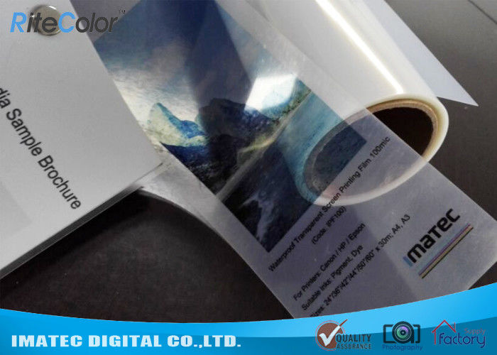 Waterproof 100micron Clear PET Inkjet Screen Printing Film for Epson Printers