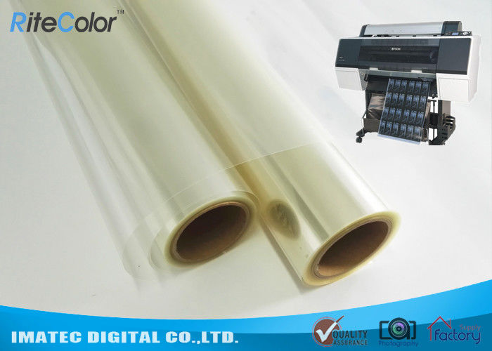 One-Side Coated Inkjet Film Roll , Eco Solvent Inkjet Transparency Film