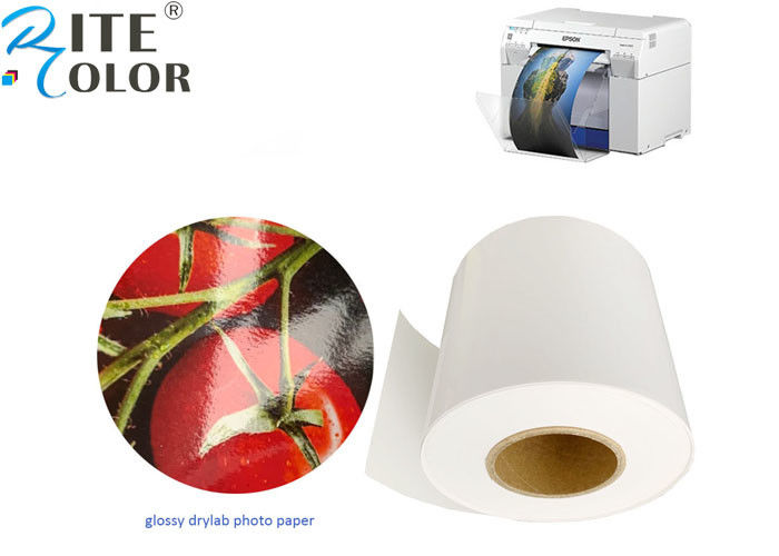 Silky Dry Minilab Photo Paper Roll Microporous Luster Surface For Inkjet Printing