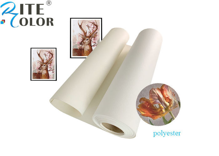 Large Format Aqueous Matte Polyester Canvas Rolls Blank Stretched Inkjet Canvas Rolls