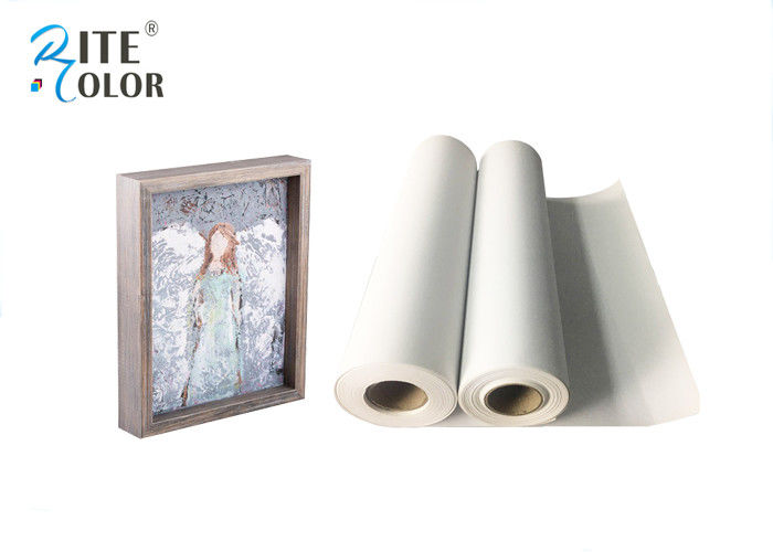 Waterproof 280gsm Matte Polyester Canvas Rolls Single Side For Giclee Inkjet Printing nhà cung cấp